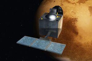 Artist's rendering of the MOM orbiting Mars